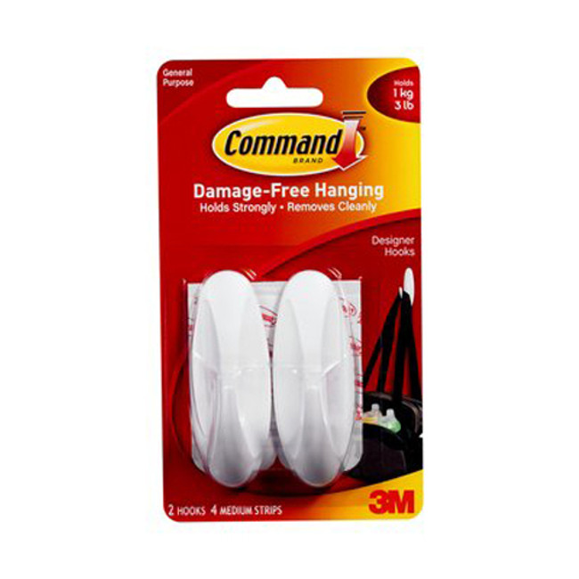 3M Command Medium Design Hooks 2 Pack