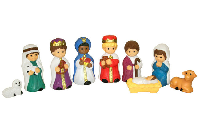 9pc Blow Mold Child Nativity Set C4660