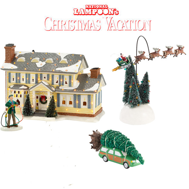 Department 56 National Lampoon's Christmas Vacation 4pc Starter Set