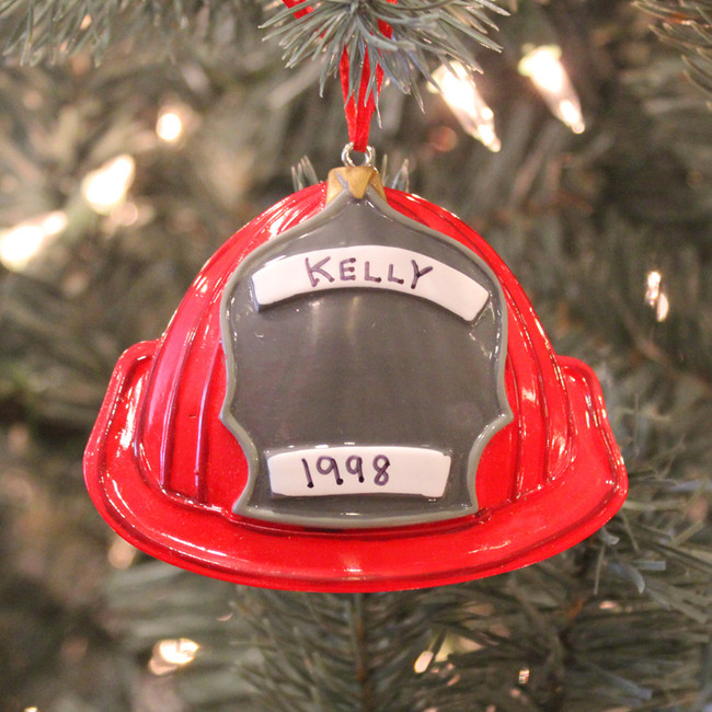 Fireman Hat Personalized Christmas Ornament  OR1028