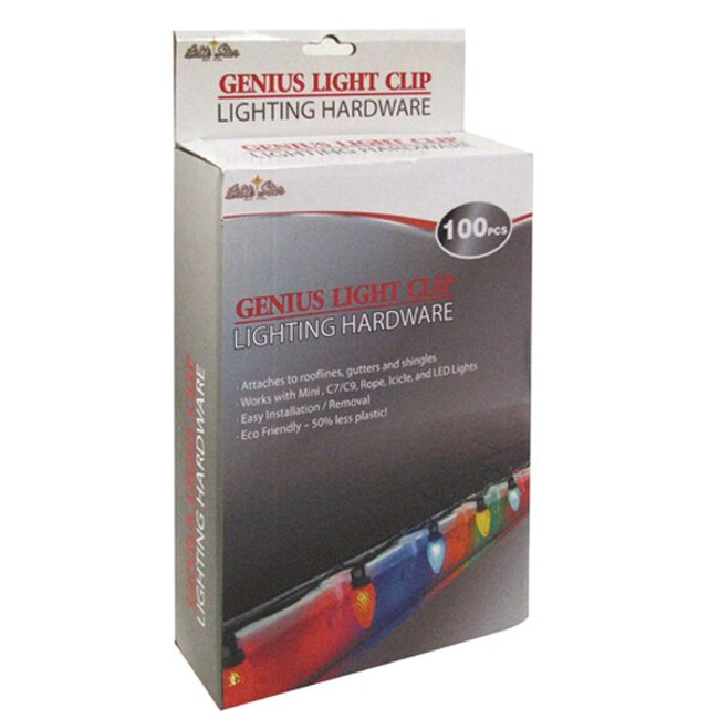 Brite Star 100 ct Genius Christmas Decorating Light Clips
