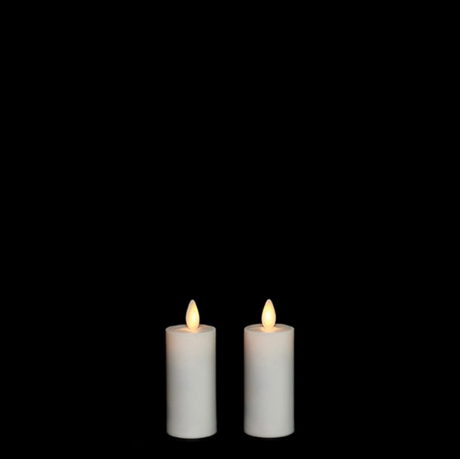 "Liown 1.5"" x 3"" Set of 2 Moving Flame Votive Battery Candle 17777"