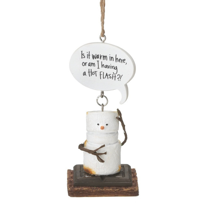 """2"""" Hot Flash S'mores Christmas Ornament 111720"""