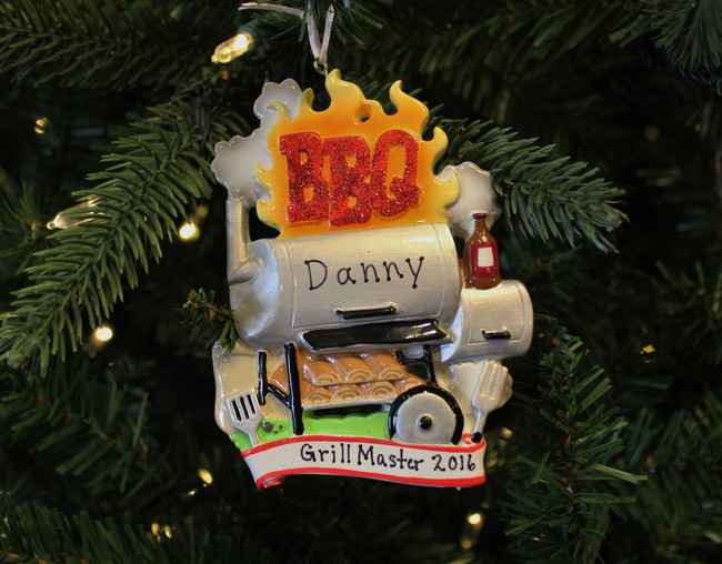Barbecue Smoker Personalized Christmas Ornament