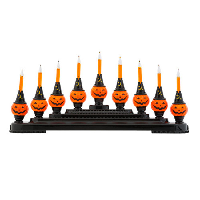 Christopher Radko Shiny Brite Halloween Bubble Bright Pumpkin Light Candolier 4027506
