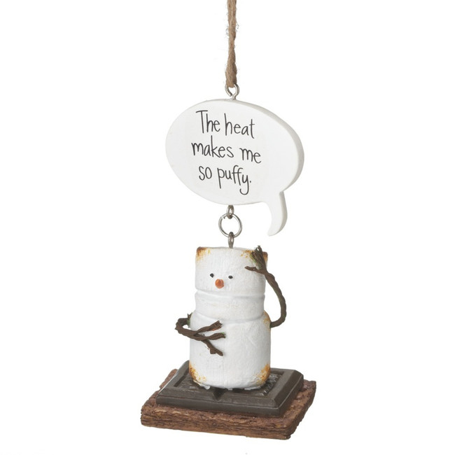 "4"" The Heat Makes Me Puffy Toasted S'more Christmas Ornament 111731"