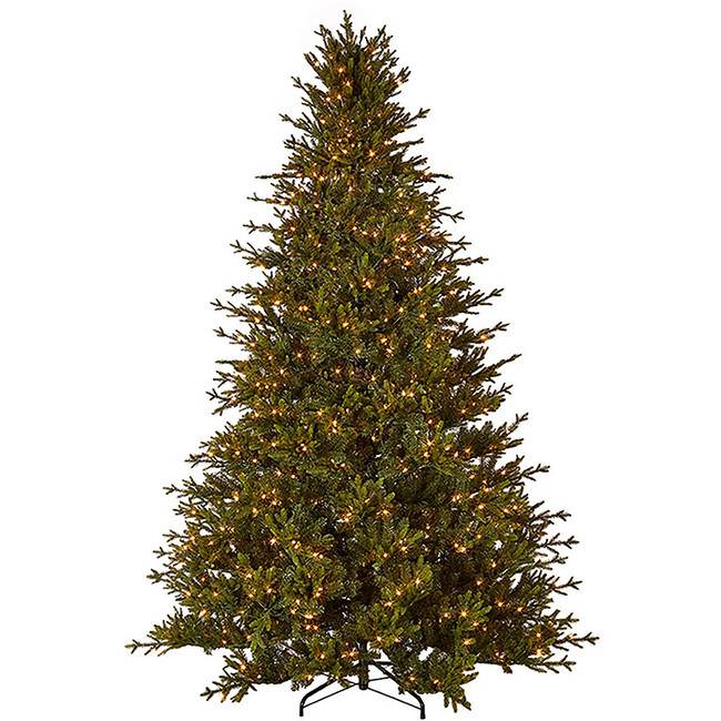 Raz 9' Forever Lit Green Artificial Christmas Tree T3852010