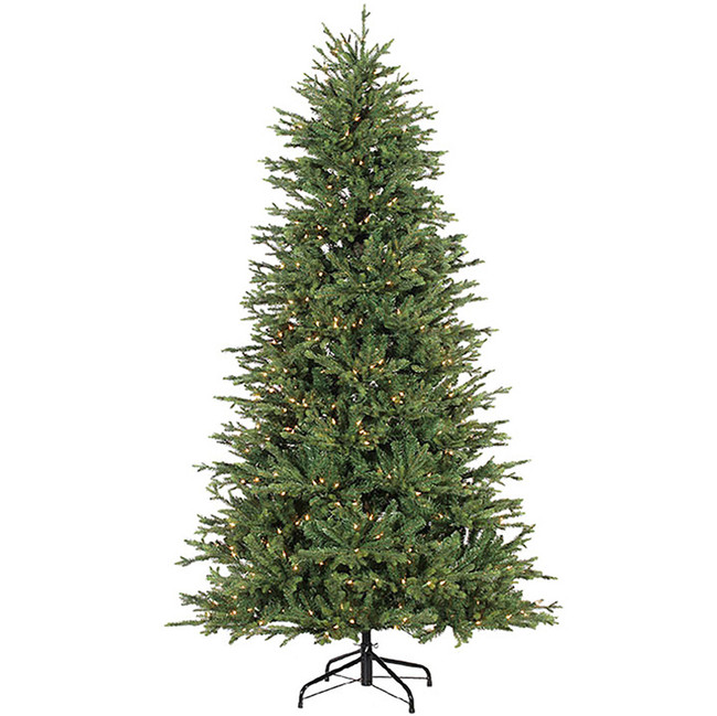Raz 7.5' Slim Green Forever Lit Artificial Christmas Tree M3652011