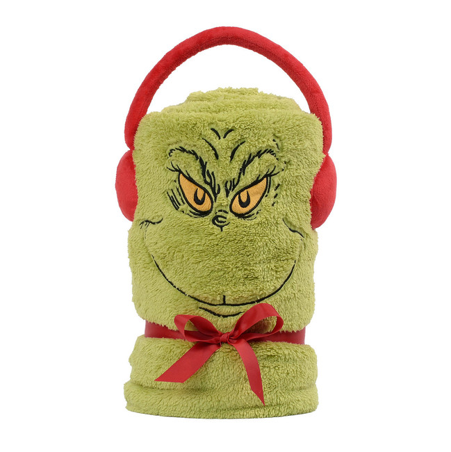 Department 56 How The Grinch Stole Christmas Fleece Throw Blanket 6003284