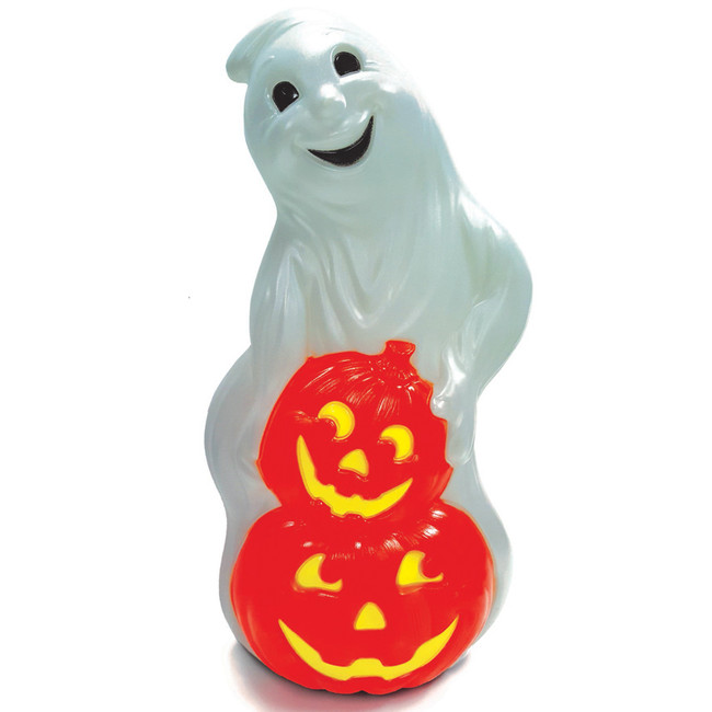 "31"" Ghost with Pumpkins Halloween Blow Mold 56480"
