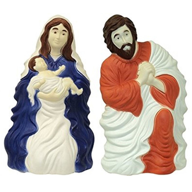 "28"" Set of 2 Nativity Scene Blow Mold Outdoor Christmas Decor 74100"