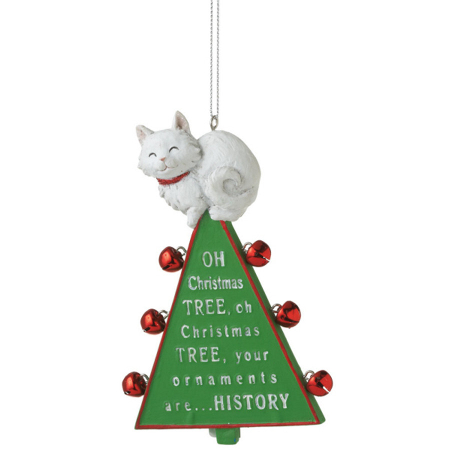 oh christmas tree funny cat christmas ornament 100699