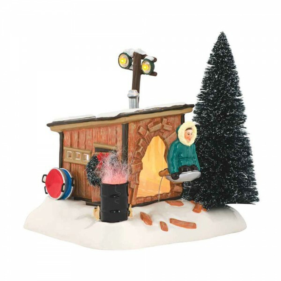 department 56 national lampoons christmas vacation griswold sled shack 4042408