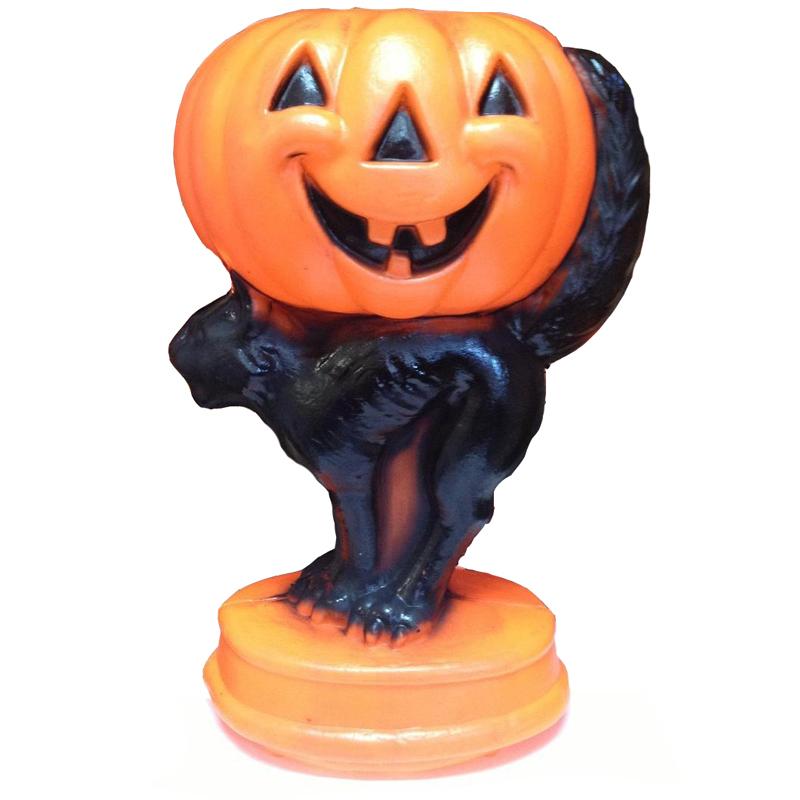 Pumpkin And Black Cat Halloween Blow Mold