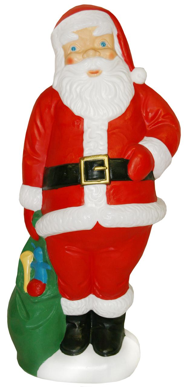 60 large santa with green bag christmas blow mold - Christmas Decorations Large Santa Claus