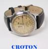 Vintage CROTON Mens Triple Calendar Hourmatic Watch 1950s * SERVICED