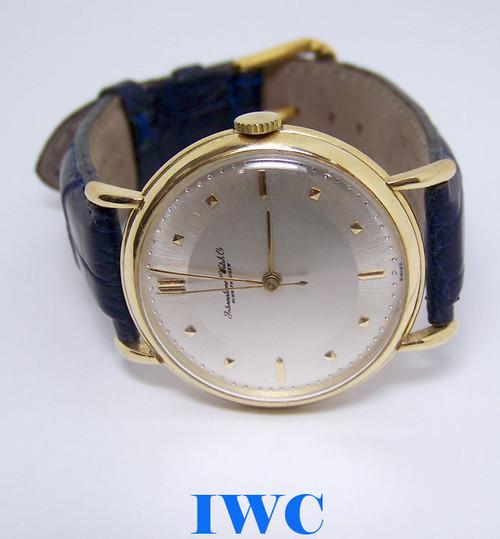 Vintage 18k Yellow Gold IWC SHAFFHAUSEN Winding Watch c.1949 Cal 60 SERVICED
