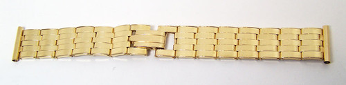 SOLID 14k Watch Riveted & Stretchable Bracelet 18 mm Logs Good for Vintage Rolex