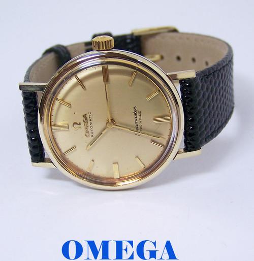 14k & S/Steel OMEGA SEAMASTER De VILLE Automatic Watch 1960s Cal.550* EXLNT