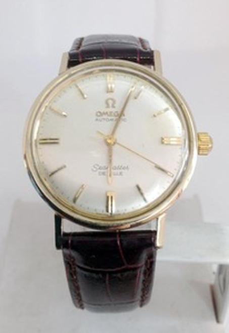 14k OMEGA SEAMASTER DeVILLE Automatic Watch 1960s Cal 550* EXLNT* SERVICED