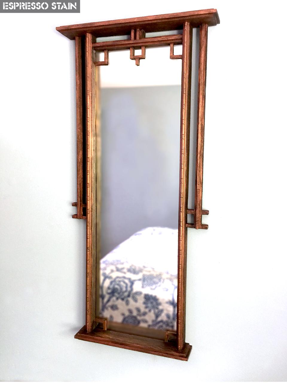 Artisan Rustic Zen Wall Mirror