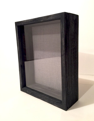 "Shadow Box - Artisan Rustic -11""W x 14""H x 4""D Black Wash"