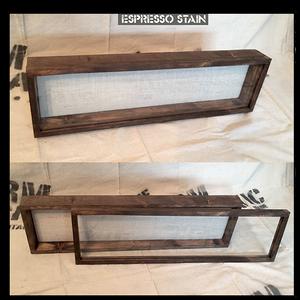 """Shadow Box - Artisan Rustic -20""""W x 7""""H x 2""""D Espresso"""