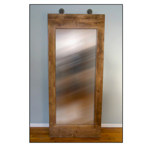 Artisan Industrial Rustic Leaning Mirror