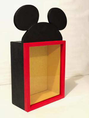 Mickey Mouse Inspired Shadow Box Frame, 11x14. DEEP Shadow Box, 3 inches Deep, Pin Display | Artisan Rustic Collection