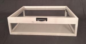 "Jewelry Display Case   Artisan Rustic 5-Way Glass Display Case - 25"" x 19"" x 6""D"
