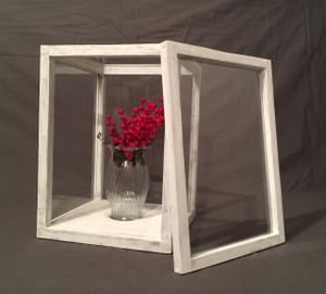 "Artisan Rustic Glass Display Case - 9"" W x 13"" H x 9"" D | The Farm Mechanic"
