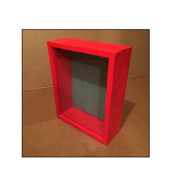 "Shadow Box - Artisan Rustic -11""W x 14""H x 3""D Barn Red"