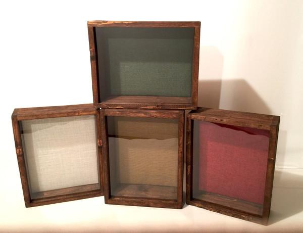 """Shadow Box - Artisan Rustic -11""""W x 14""""H x 3""""D Espresso"""