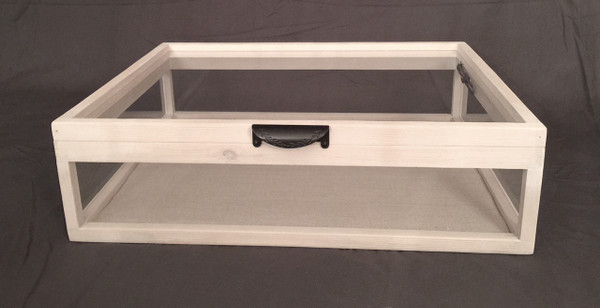 "Jewelry Display Case | Artisan Rustic 5-Way Glass Display Case - 25"" x 19"" x 6""D"