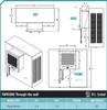 Brisa Slim Wall Garage Evaporative Cooler 3000 CFM - SWH3000