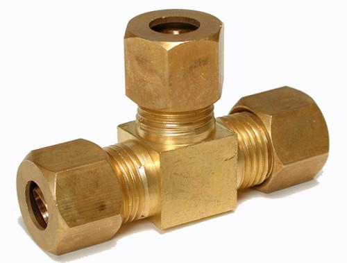 "1/4"" Brass Compression Tee 93975"