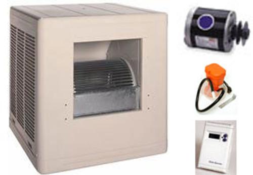 Evaporative Cooler Complete System Bundle - 3000 CFM Sidedraft Aspen - FREE SHIPPING