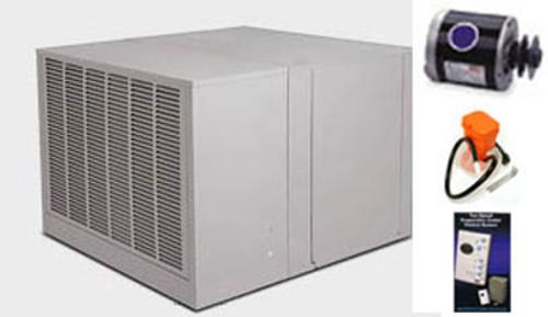"Evaporative Cooler Complete System Bundle - 4800 CFM Downdraft 8"" Pads - Aerocool Trophy TD4801C - FREE SHIPPING"