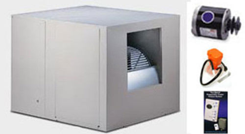 """Evaporative Cooler Complete System Bundle - 4800 CFM Sidedraft 8"""" Pads - Aerocool Trophy TH4801C - FREE SHIPPING"""