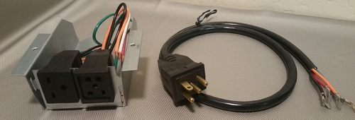 230v Receptacle Box & Cord Kit