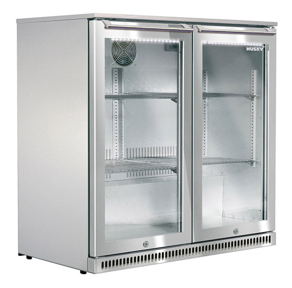 190L Alfresco Double Glass Door Bar Fridge
