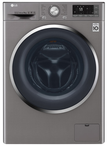 9kg Front Load Washer Silver