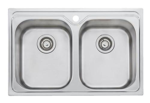 Diaz Double Bowl Universal Sink