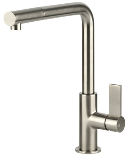 Emporio Pull Out Kitchen Mixer Brushed Nickel