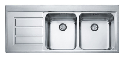 Epos 1 & 3/4 Bowl Left Hand Drainer Sink