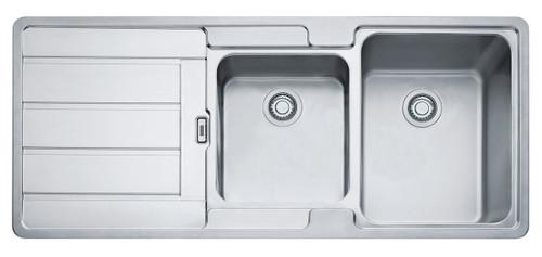 Hydros 1 & 3/4 Bowl Left Hand Drainer Sink