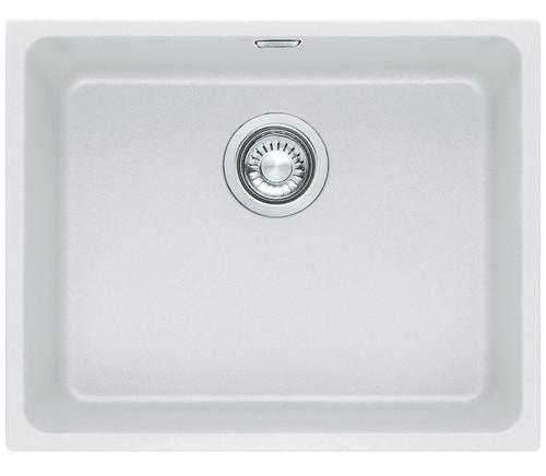 Kubus Single Bowl Undermount Sink White colour