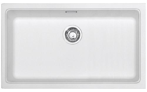 Kubus Single Bowl Undermount Sink WHT