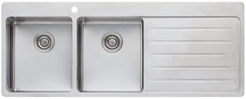 Double Bowl Drainer Topmount Sink