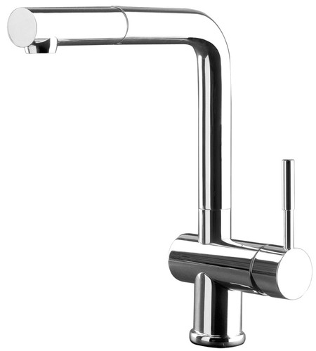 GESSI OXYGENE PULL-OUT MIXER, CHROME